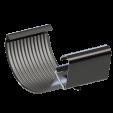 Соединитель желоба  KROP 125/90 сталь, 3 м