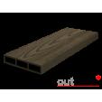 Доска для вентфасада и забора из ДПК Outdoor темно-коричневая 115х22х3000 мм, м2