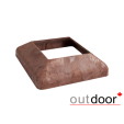 Юбка столба из ДПК Outdoor темно-коричневая 190х190х45 мм, шт