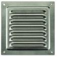 Решетка вентиляционная металлическая оцинкованная 150х150 мм ЭРА, шт