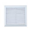 Решетка вентиляционная 30*30 см с сеткой Storm белая