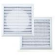 Решетка вентиляционная 28*28 см с сеткой и жалюзи Hardi 05400 белая