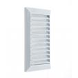 Решетка вентиляционная 11*27 см с сеткой Hardi 02300 белая