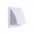 Решетка вентиляционная фасадная 175*175 мм с клапаном Hardi 01510 белая