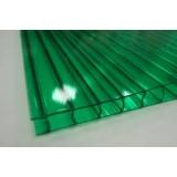 Поликарбонат сотовый зеленый Golden Plast (РФ), 8мм