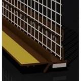 Профиль оконный примыкающий ПВХ 6мм с армирующей сеткой,коричневый, 2,5м