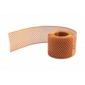 Решетка карнизного свеса коричневая, 80 мм*5м