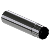 Труба водостока KROP сталь, 90 мм*3 м,шт.