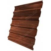 Лист профилированный структурированный С-20 0,45мм бразильская вишня GrandLine, м2