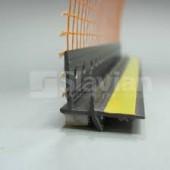 Профиль оконный примыкающий ПВХ 6мм с армирующей сеткой,графит, 2,5м