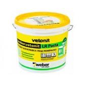 Шпаклевка Weber vetonit LR pasta полимерная суперфинишная белая,20 кг,, шт.
