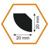 Плинтус потолочный MM20/20, 2 м