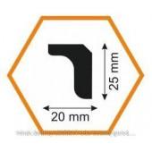 Плинтус потолочный MO 25/20, 2 м