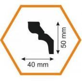 Плинтус потолочный D 50/40, 2 м