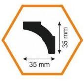 Плинтус потолочный B2 35/35, 2 м