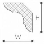 Плинтус потолочный MP 30/30, 2 м