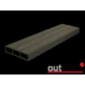 Доска для вентфасада и забора из ДПК Outdoor черная 115х22х3000 мм, м2