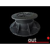 Опора регулируемая металлическая черная от 22 до 550 мм, шт