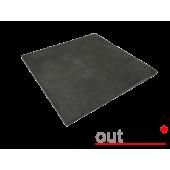 Плитка из керамогранита Outdoor черная ales 600*600*20мм, м2
