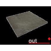 Плитка из керамогранита Outdoor темно-серая ales 600*600*20мм, м2