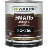 Эмаль для пола ПФ-266 Лакра желто-коричневая, 1 кг