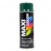 Краска аэрозольная Maxi Color темно-зеленая, 400 мл