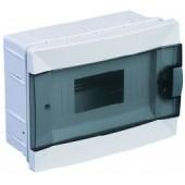 Щиток для скрытой проводки с горизонтальной дверцей на 8 мод. 63008 Makel белый