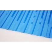 Профилированный поликарбонат 0,8мм волна 70/14 синий
