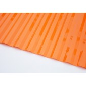 Профилированный поликарбонат 0,8мм волна 70/14 оранжевый
