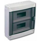 Щиток для открытой проводки с горизонтальной дверцей на 16 мод. 28001427 Makel белый
