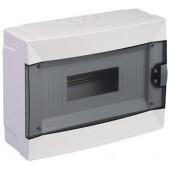 Щиток для открытой проводки с горизонтальной дверцей на 12 мод. 63112 Makel белый