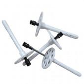 Дюбель зонт + металлический гвоздь с термоголовкой 10 x 90 мм, 1000 шт.