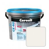 Затирка для швов Ceresit CE40 №01 белая, 5 кг
