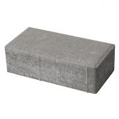 """Плитка тротуарная на сером цементе """"Прямоугольный камень"""" 200х100х60мм, м2"""