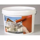 Краска акриловая ВД-АК-11 для цоколя и дерева Colorlux красно-коричневая, 10 кг