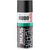 Краска аэрозольная Kudo черная глянцевая, 520 мл