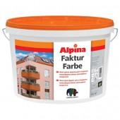 Краска структурная фасадная Alpina Fakturfarbe, 10 л