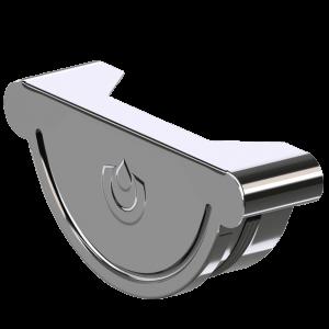 Заглушка желоба универсальная KROP 125/90 сталь, 3 м