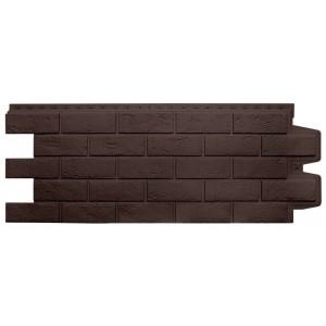 Панель фасадная полипропиленовая Состаренный кирпич коричневый, шт
