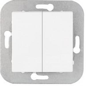 Выключатель двухклавишный скрытой установки C5 10-551 белый, шт
