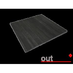 Плитка из керамогранита Outdoor черная cassero 600*600*20мм, м2