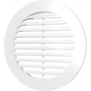 Решетка вентиляционная круглая D130 вытяжная с фланцем D100 (10РК) ЭРА белая, шт.