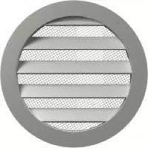 Решетка вентиляционная круглая алюминиевая с фланцем D100,10РКМ,ЭРА, шт.