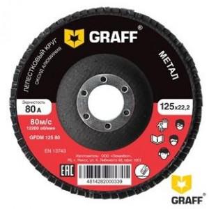 Круг лепестковый шлифовальный по металлу Graff 125х22,2 мм 100A