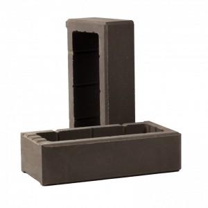 Элемент облицовочной опалубки «Т-блок» (ТБЛОК-С6) Рубелэко графит, шт