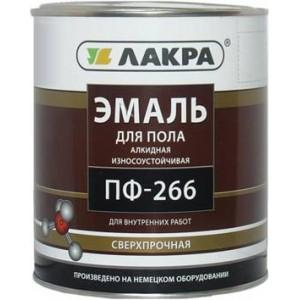 Эмаль для пола ПФ-266 Лакра желто-коричневая, 2 кг