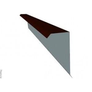 Планка торцевая (ветровая) для ондулина металлическая , 2 м.п.