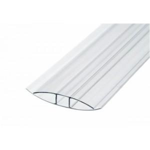 Профиль соединительный неразъемный для поликарбоната Н 6 мм