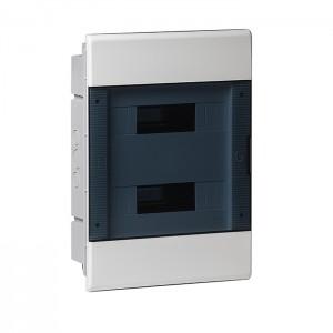 Щиток для скрытой проводки с горизонтальной дверцей 68124 Рувинил белый