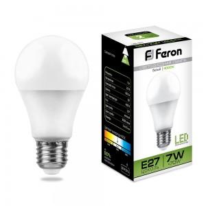 Лампа светодиодная Feron LB-91 7W LED E27 4000K